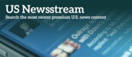 US Newsstream enables users to search current U.S. news content, as well as archives that stretch back into the 1980s. It features top newspapers, wires, broadcast transcripts, blogs, and news sites in full-text format. US Newsstream provides key national and regional news sources from the U.S. and includes exclusive and preferred access to top titles, including The New York Times, the Wall Street Journal, Washington Post, Los Angeles Times, Boston Globe, Newsday, and Chicago Tribune. All titles are cross searchable on the ProQuest platform.
