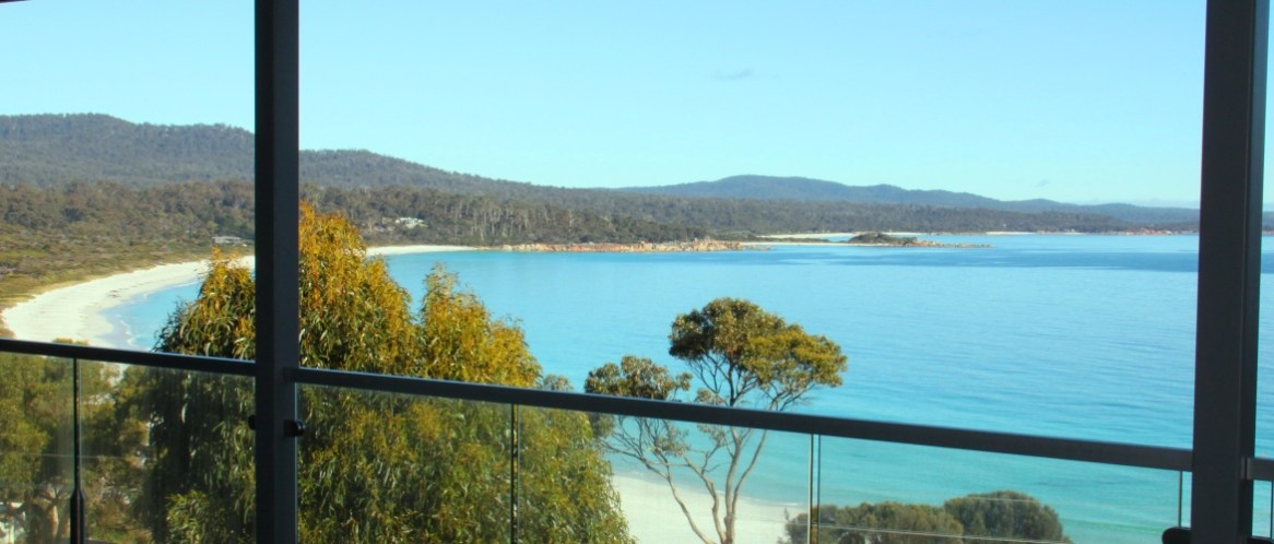 Wake up to this view at Sea Eagle Cottage