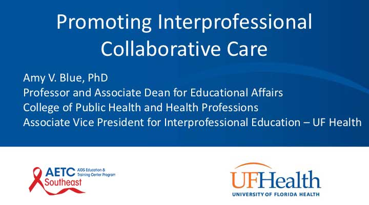 Webinar: Promoting Interprofessional Collaborative Care