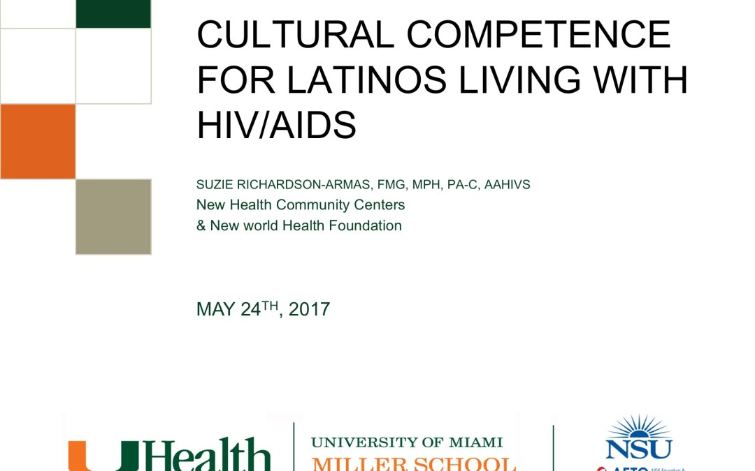 Webinar: Culturally Competent Care for Latinos with HIV/AIDS