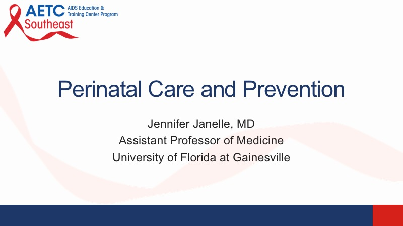 Webinar: Perinatal Care and Prevention