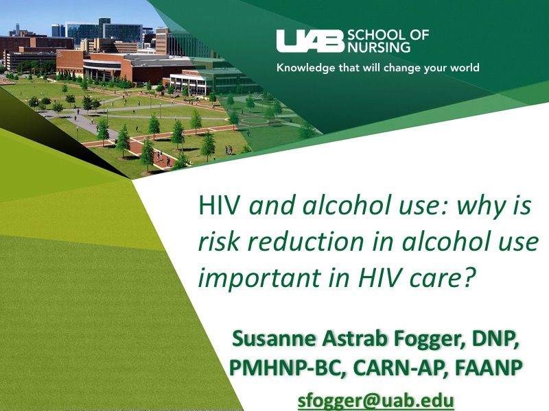 Webinar: HIV and alcohol use: why is risk reduction in alcohol use important in HIV care?