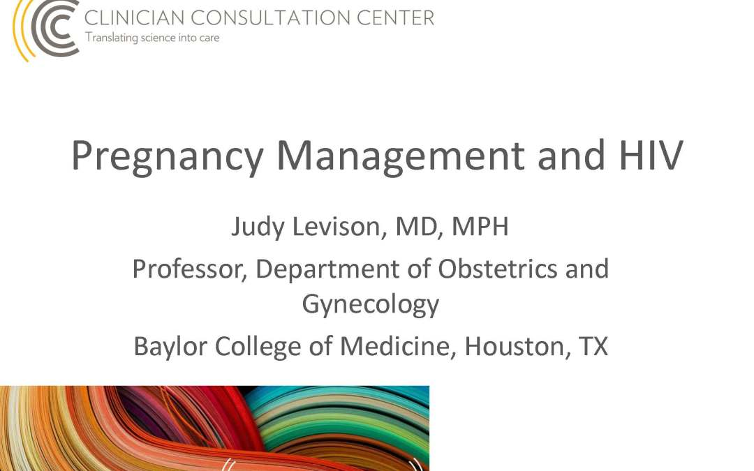 Webinar: Pregnancy Management for Women Living with HIV