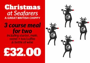 Discount Voucher 4 COURSE XMAS MENU in the restaurant for 2 at Seafarers, Lytham St Annes