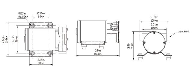 SEAFLO Marine 8 GPM Self Priming Impeller Bilge Pump