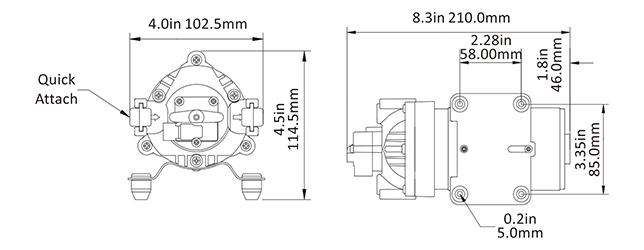 SEAFLO 110V 160PSI AC Beverage Processing Triplex Hi