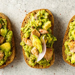 Picture of Avocado toast with tuna and rocket