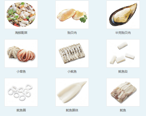 Haohai Seafood Catalogue