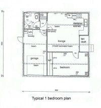 1 Bedroom Cottage Plans
