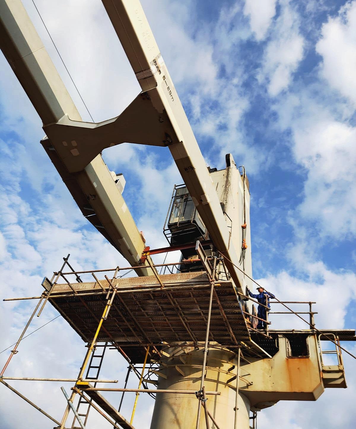 Crane jib repair