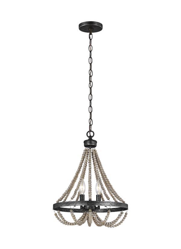 3101902EN-872,Two Light Chandelier,Washed Pine