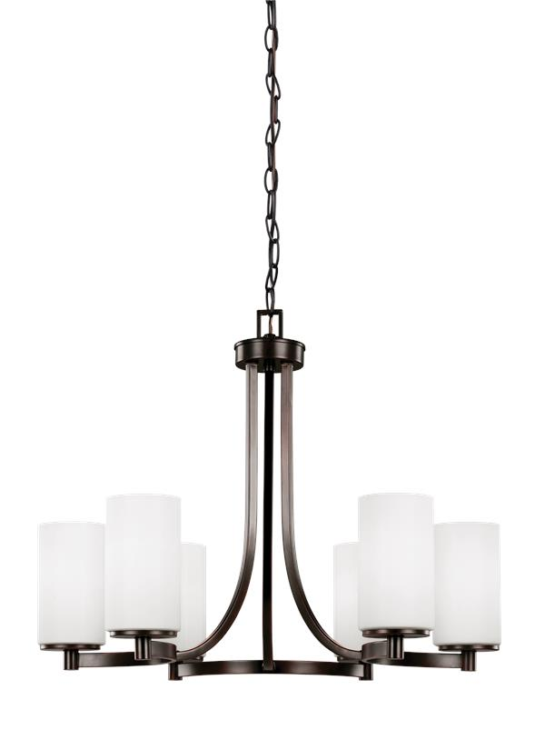 3139106-710,Six Light Chandelier,Burnt Sienna