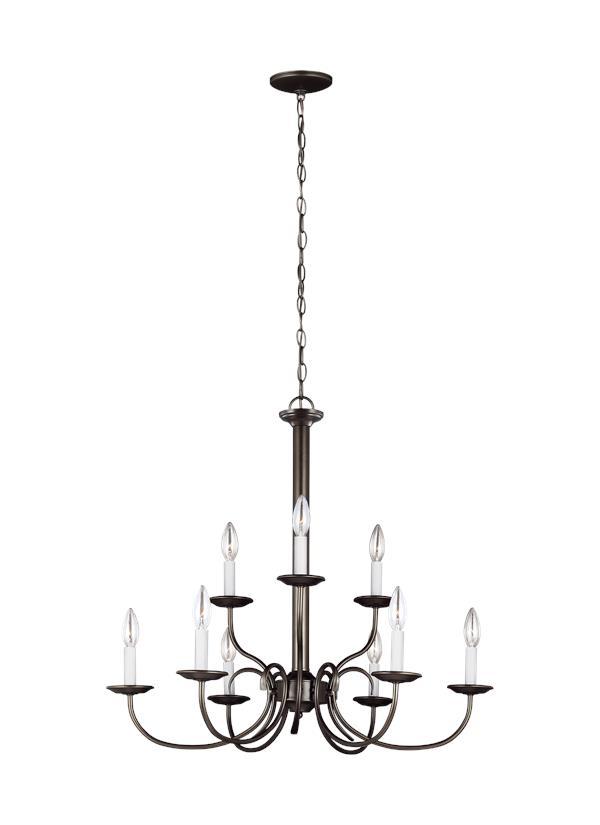 32810EN-782,Nine Light Chandelier,Heirloom Bronze