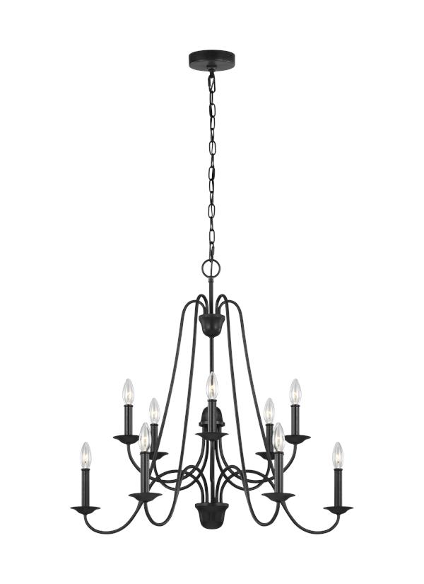 F3206/10AF,Ten Light Chandelier,Antique Forged Iron