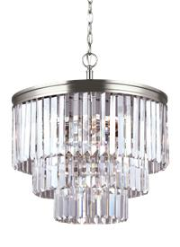 3114004EN-965,Four Light Chandelier,Antique Brushed Nickel