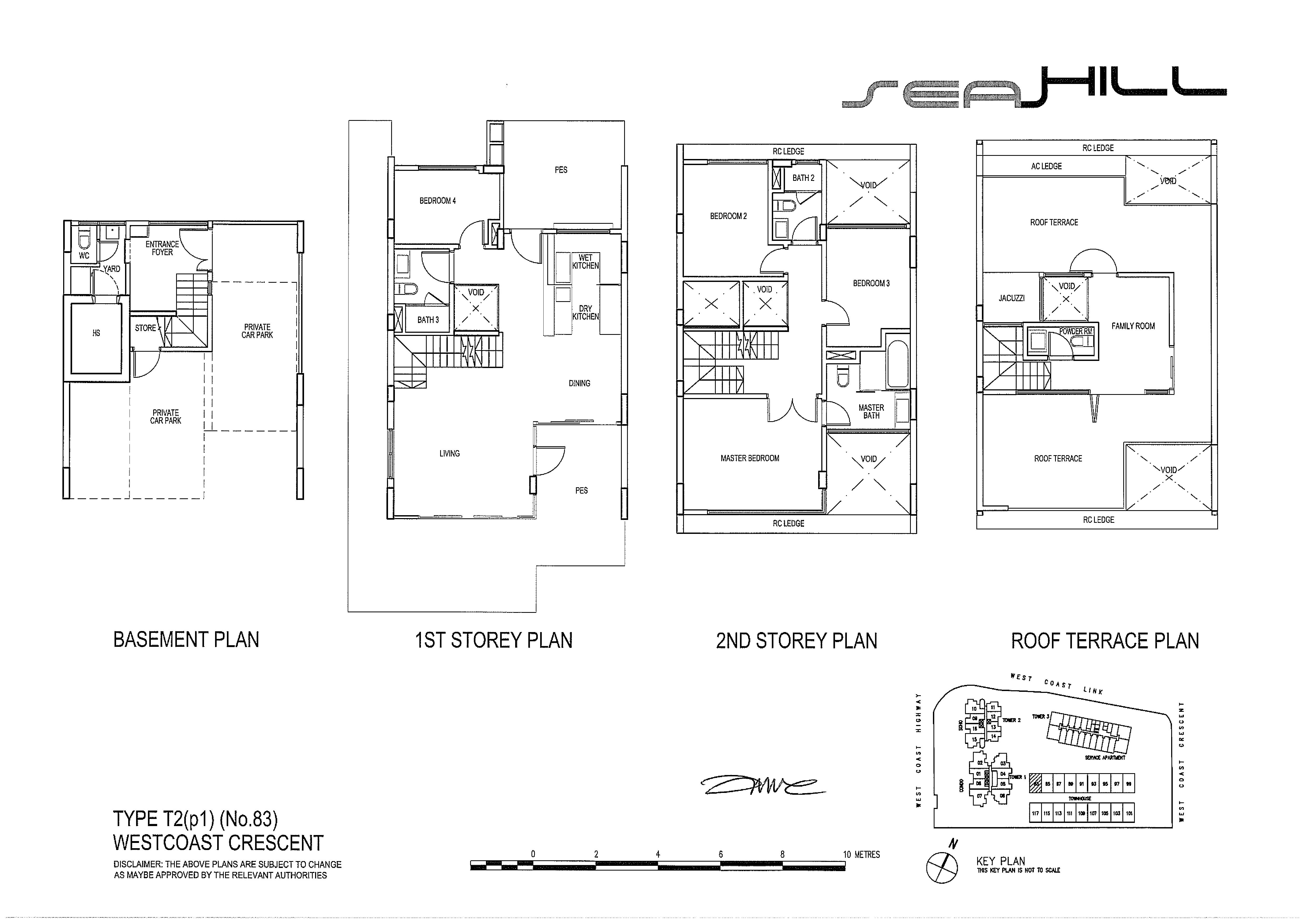 Seahill 4 Bedroom Townhouse Type T2(p1) (No.83) Floor Plans
