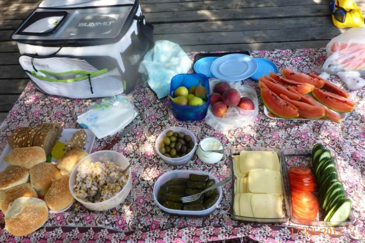 High quality fresh food in the Sea Kayak Halkidiki trips