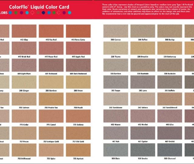 Solomon Colorflo Liquid Color Chart
