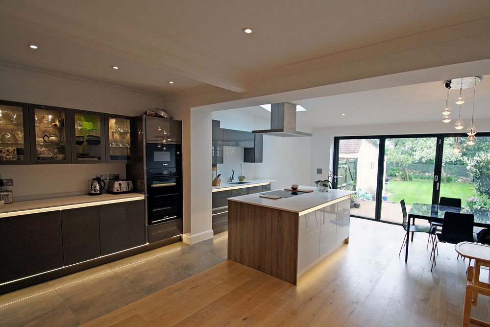 folding kitchen island countertop cost rear extension and modern design & refurb in new ...