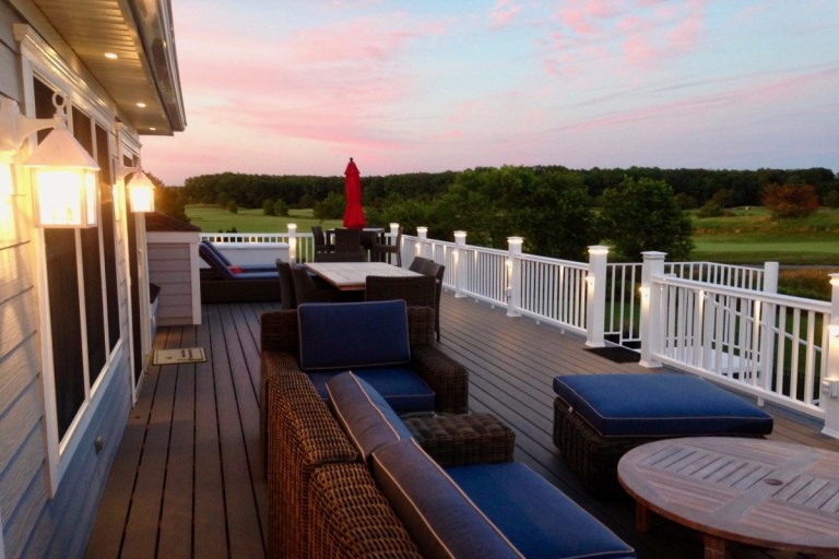 Willow Oak Ocean View DE Delaware Luxury Deck Addition Hardwood
