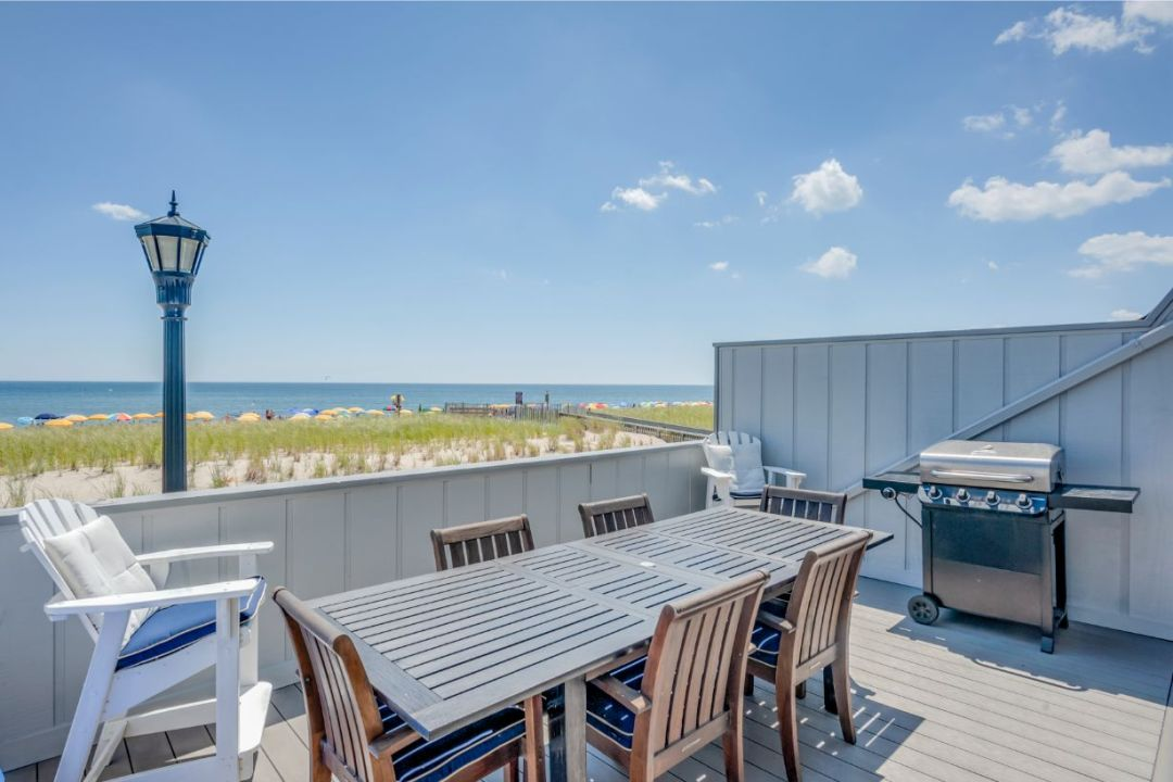 Deck on a Sunny Day with Great View of the Beach and the Ocean
