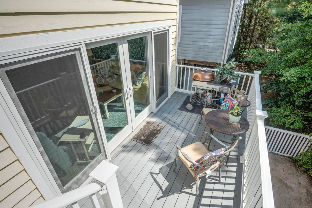 Deck Addition in Canal Drive, Millsboro DE with Glass Doors