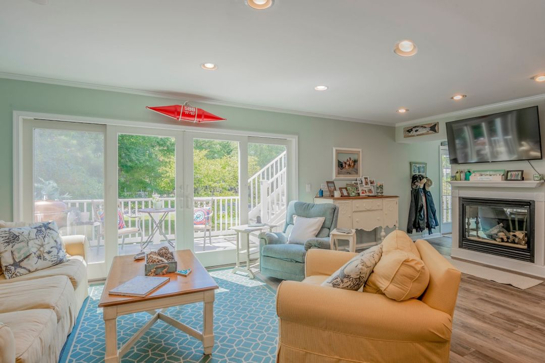 Renovation in Canal Drive, Millsboro DE - Great Room with Large Windows and Recessed Can Lights
