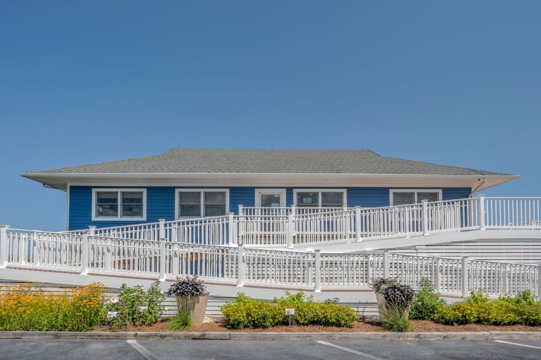 Exterior in Coastal Highway, Fenwick Island DE with Sher-Max Ultra White Railing