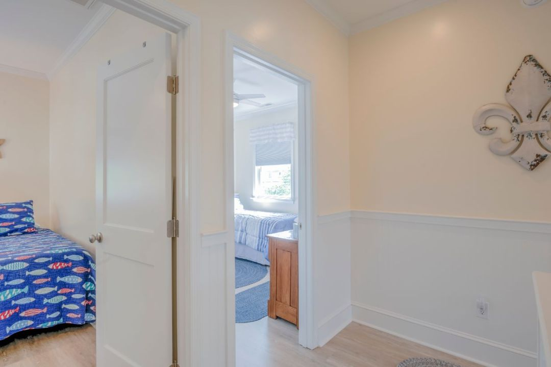 Doors to Two Bedrooms in New Addition
