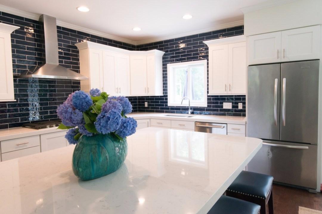 Kitchen Renovation in Jefferson Bridge, Bethany Beach DE with Drywall, Recessed Can Lights, Ceramic Tiles Backsplash Window