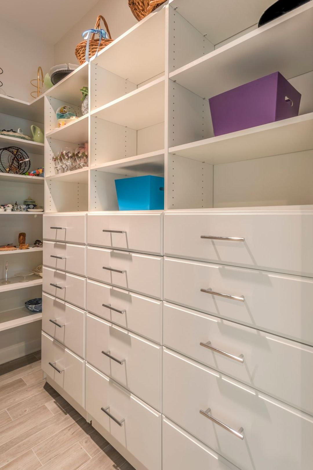 Addition in Juniper Court, Ocean Pines MD - Closet with White Drawers