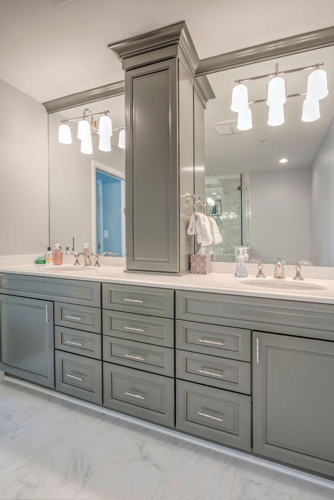 Bathroom Remodel in Kings Grant, Fenwick Island DE with Arctic White Granite Top