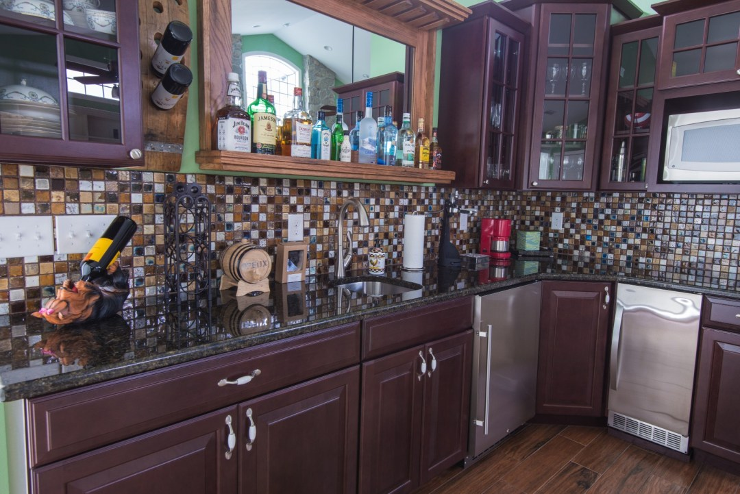October Glory Great Room Addition in Bear Trap Dunes, Ocean View DE with Dumb Waiter and Wooden Liquor Shelf