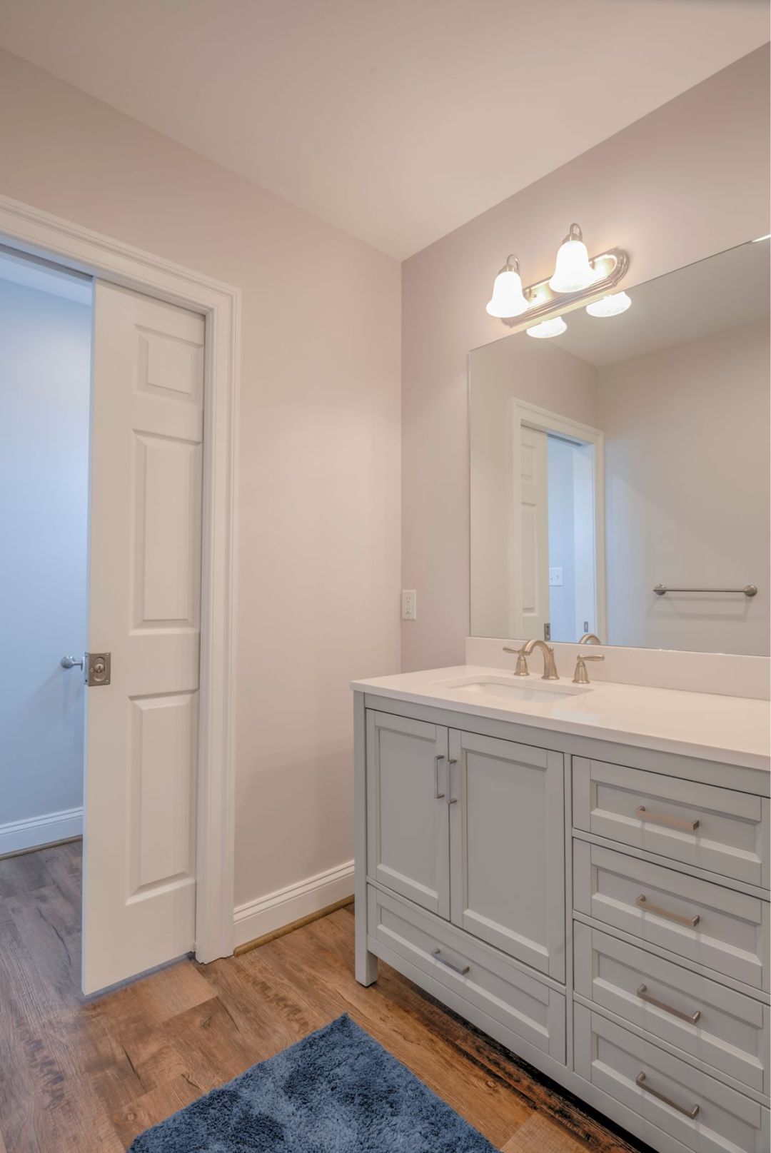 New Addition in October Glory, Ocean View DE - Bathroom with White Vanity Top