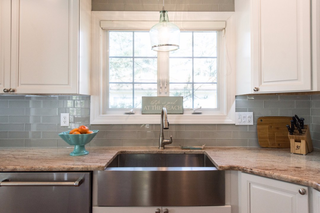 Traditional Kitchen Remodel in Pine Tree, Bethany Beach DE with Inox Sink and Large Window