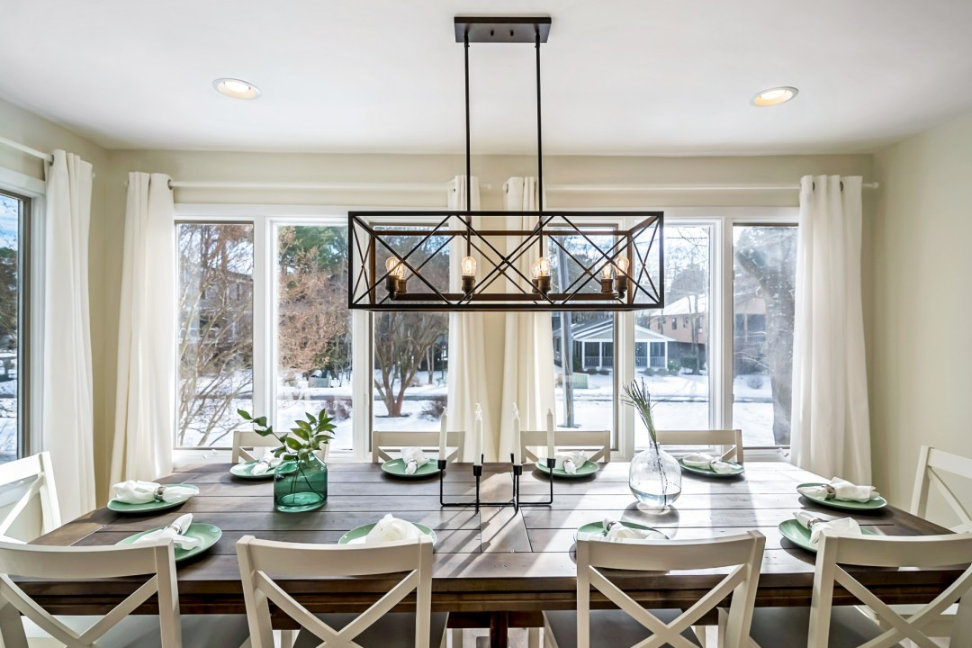 Dining Table for Ten with Great View in Wellington Parkway, Bethany Beach DE Renovation