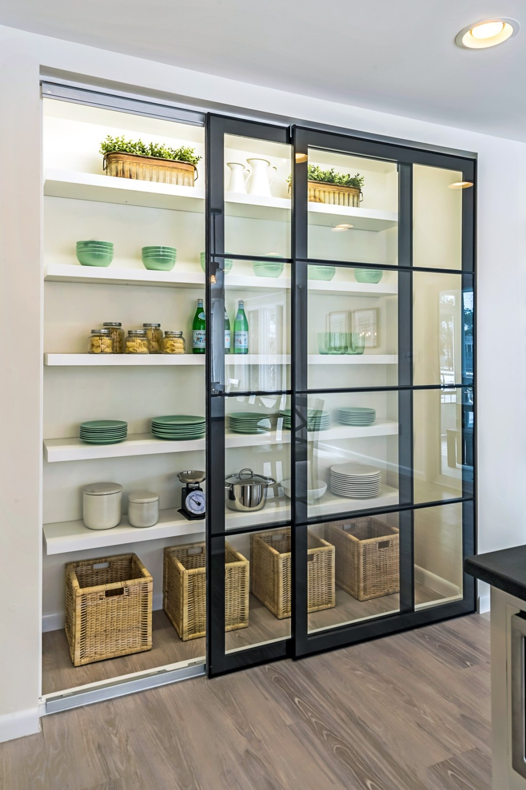 Kitchen Pantry with Sliding Glass Doors in Wellington Parkway, Bethany Beach DE