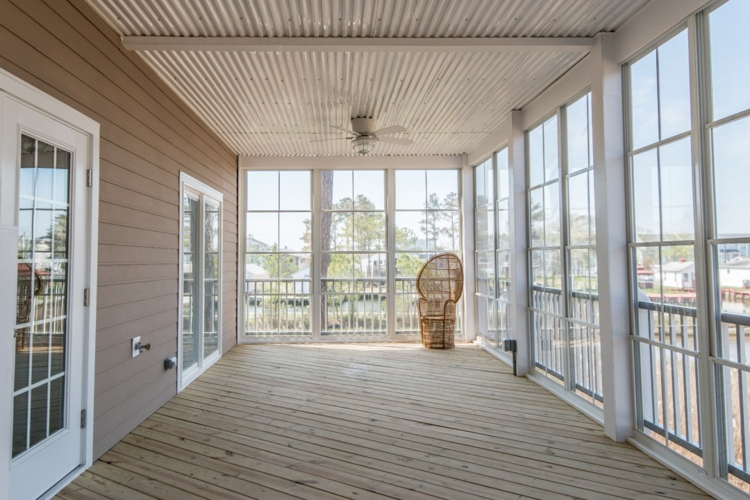 Whitesview Court House Lift New Addition in Ocean View DE Four Season Sunroom with Ceiling Fan