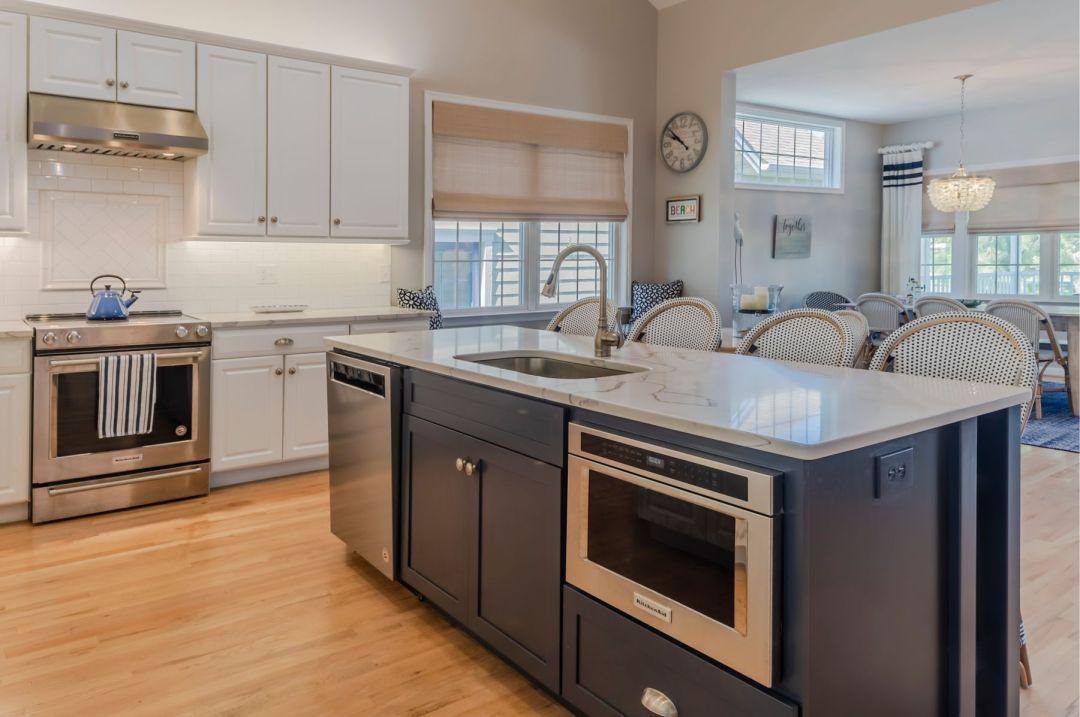 Kitchen Remodel in Willow Oak, Ocean View DE with Light Wood Flooring and Camrbria Montgomery Granite Countertop