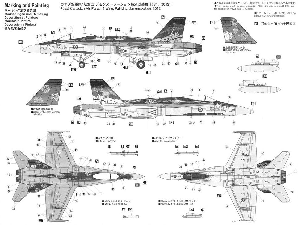 Hasegawa 02047 1/72 CF-18A Hornet