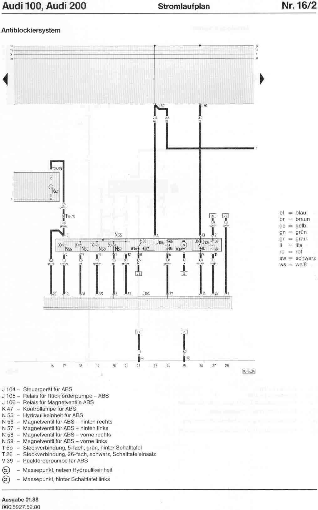 Schaltplan Audi Quattro