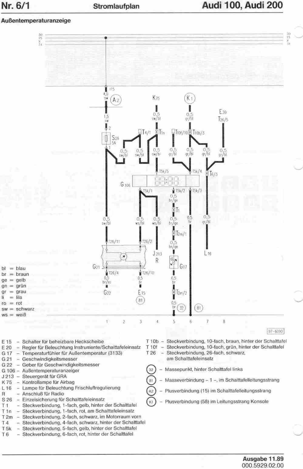 medium resolution of audi 100 wiring diagram