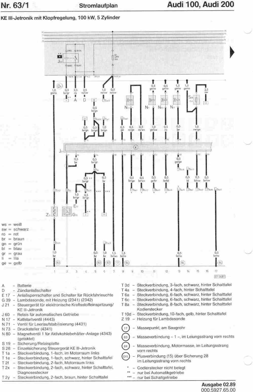 medium resolution of audi 100 200 factory wiring diagramsaudi 100 wiring diagram 18