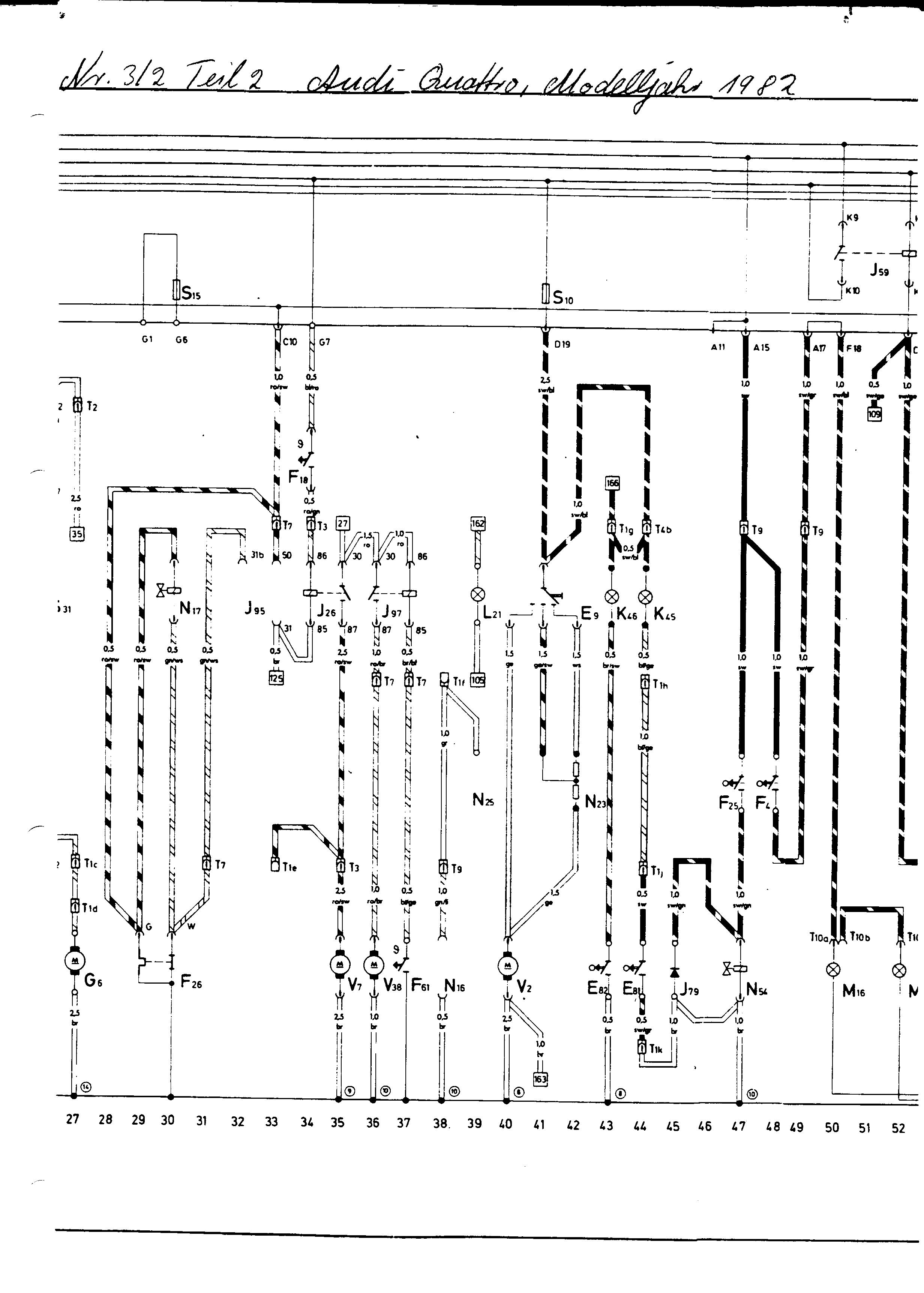 Audi Ur Quattro Wiring Diagrams