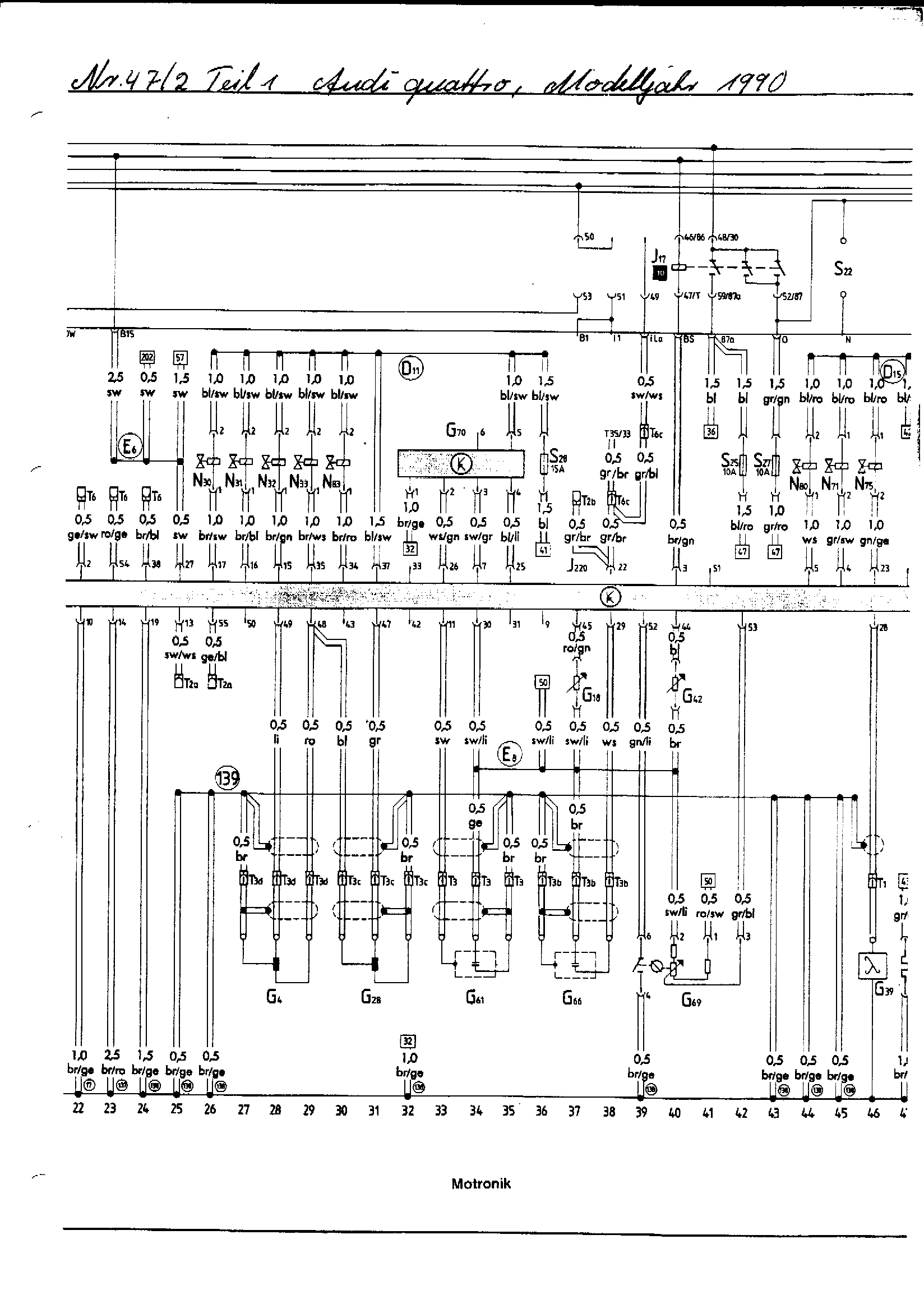 Electrical Component Lookup for the Audi ur-quattro 20V RR