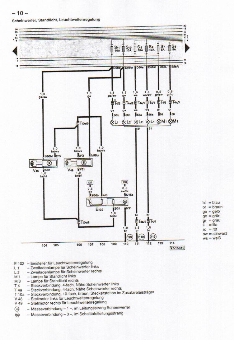 B4 (Audi 80) Wiring Diagrams