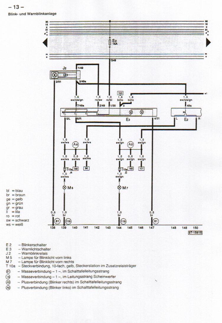 B4 (Audi 80) Wiring Diagrams