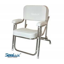 Boat Chairs Folding Deck Fur Butterfly Chair Sealux Stainless Steel Portable Cushioned Beach