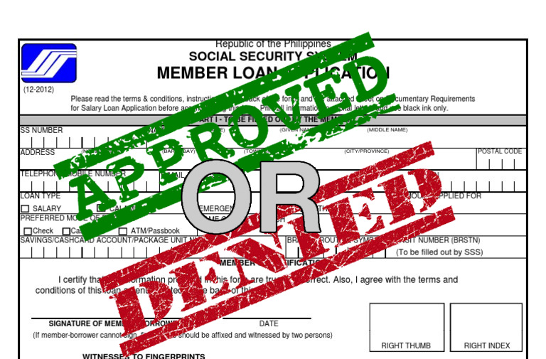 Apply for an SSS Salary Loan: One Day Approval   Seaman Memories
