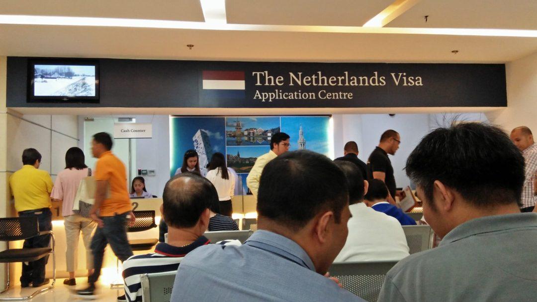 Visa Application Center Inside VFS Global.